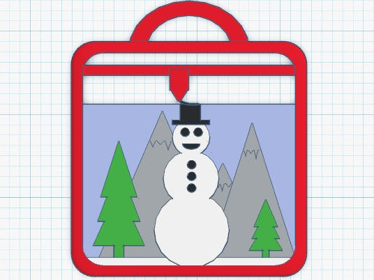 3D Printer Snowman Ornament