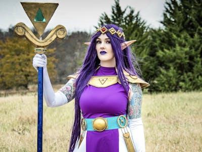Zelda Princess Hilda LED Staff Powered by Arduino