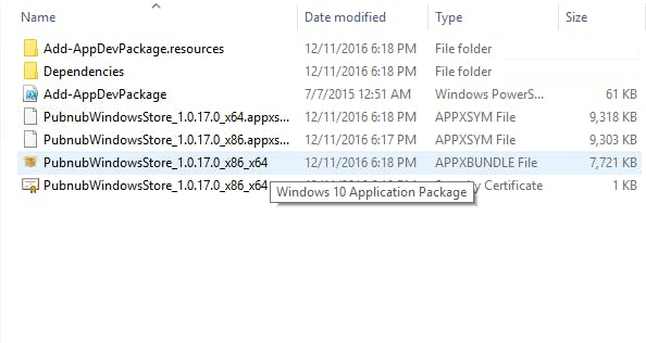 APPXBUNDLE File is highlighted in blue