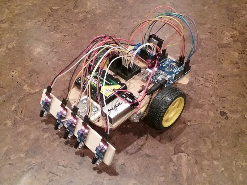 Elliot The Line Follower Robot Arduino Project Hub
