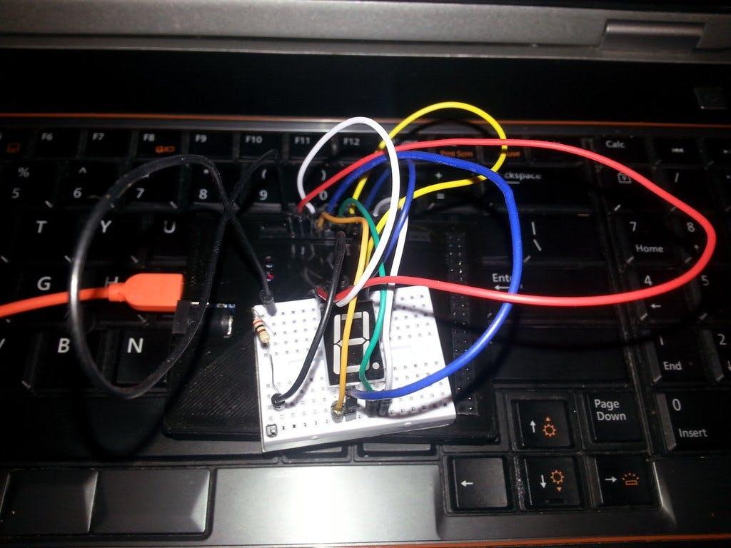 Esquilo Air & 5161AS 1 Digit 7 Segment LED Tutorial