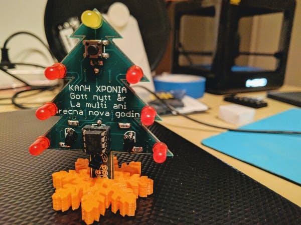 A Christmas tree, PCB ornament!