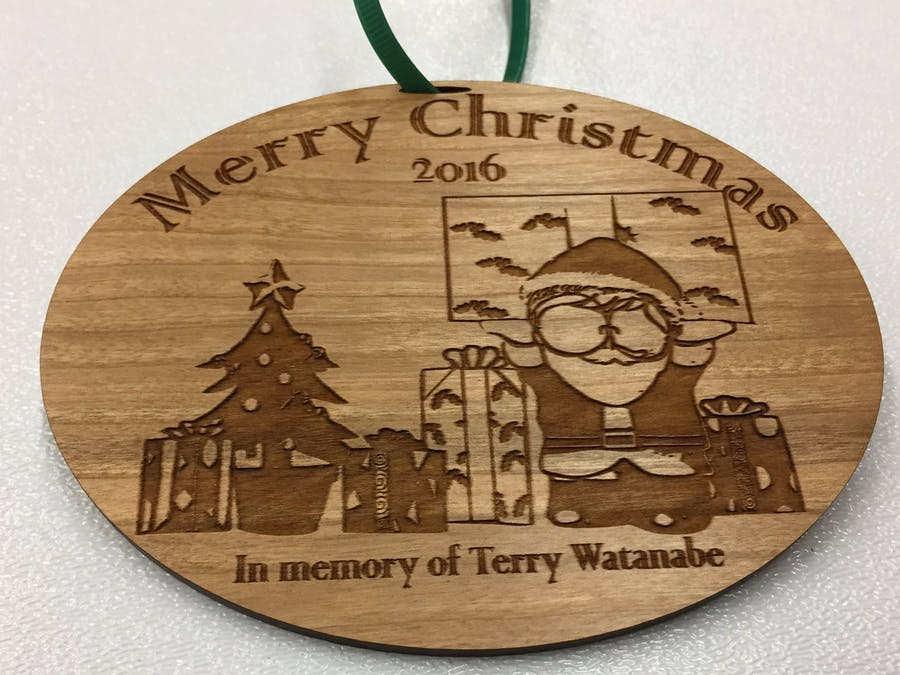 Memorial Ornament of Terry Watanabe