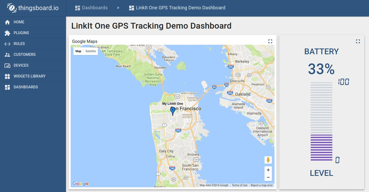 GPS Data Upload And Visualization Using LinkIt ONE And MQTT