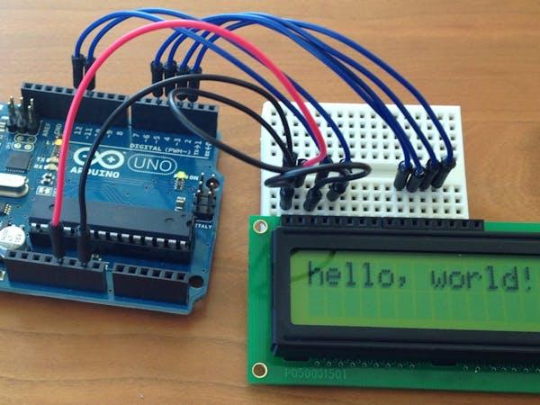 Lcd display quot hello world arduino project hub