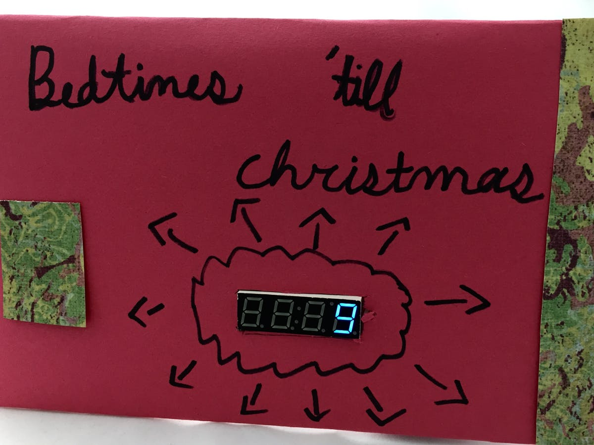 Christmas Countdown Art with Particle Photon