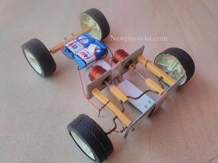 Make A Car >> How To Make A Solenoid Engine Car Hackster Io