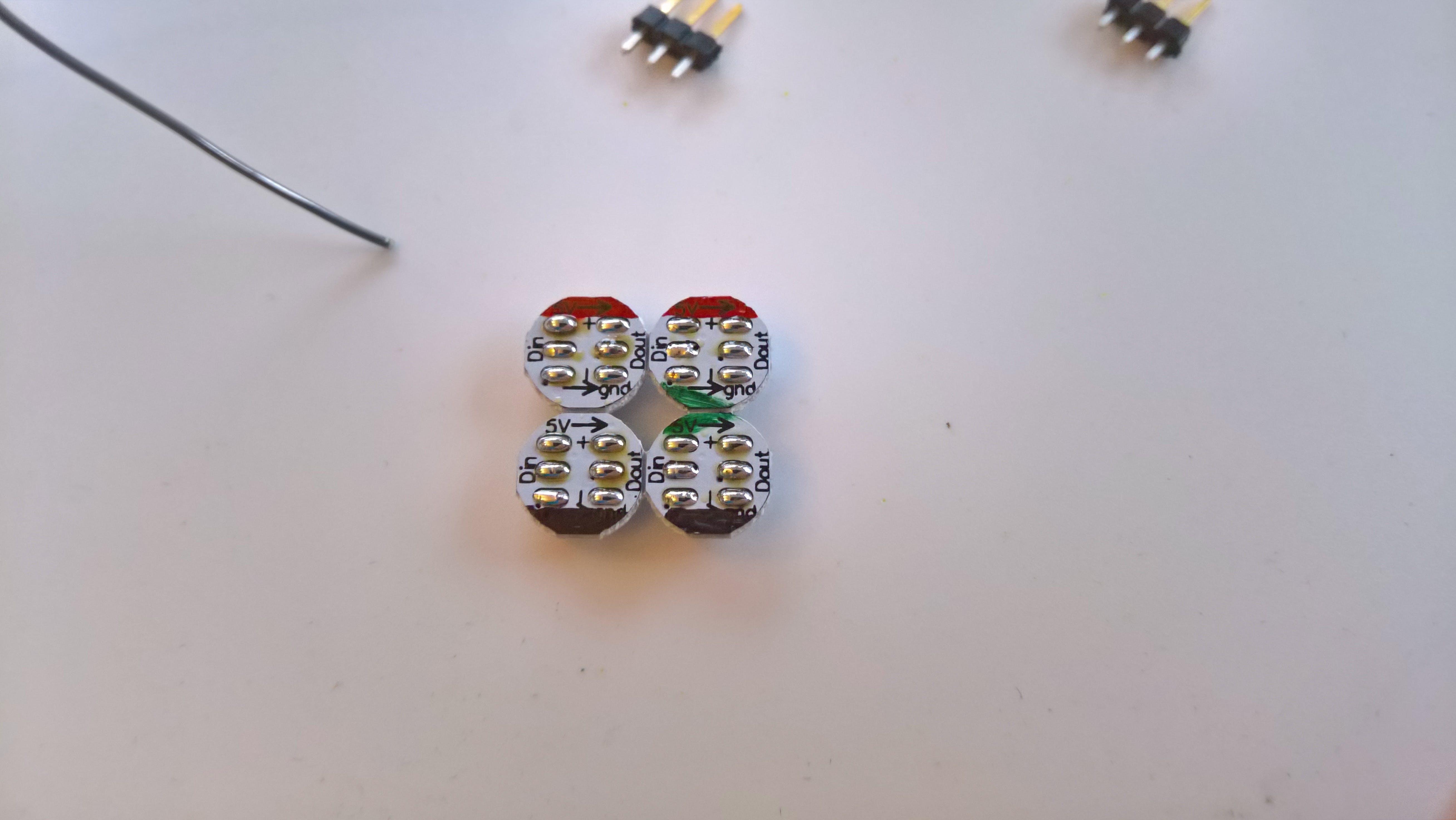 Each island has gotten a bit of solder