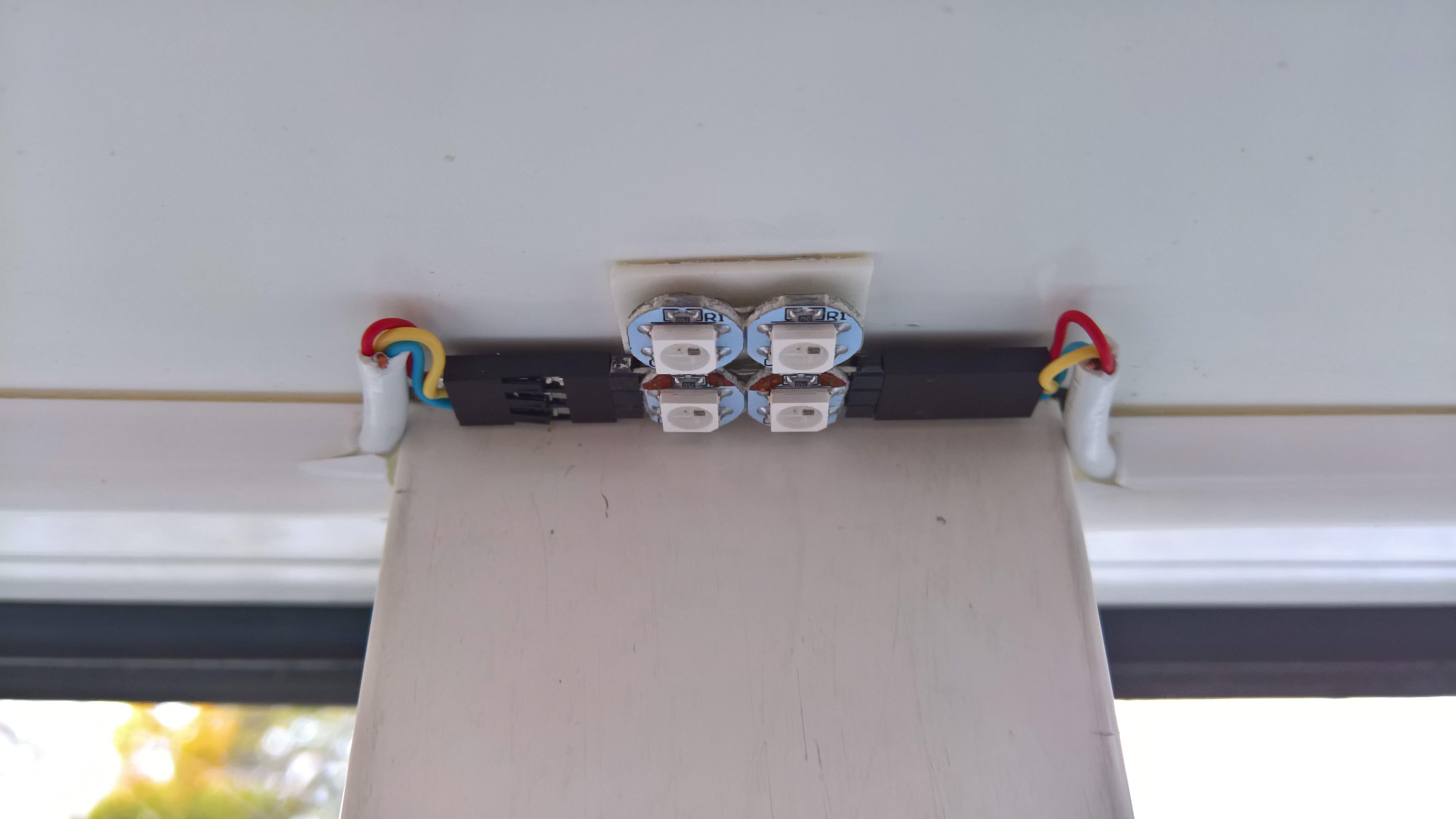 A mounted LED module