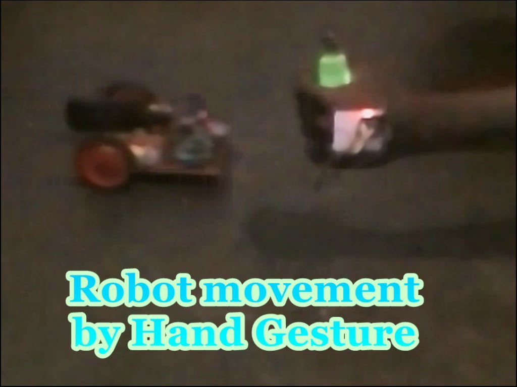 Robot Movement by Hand Gesture