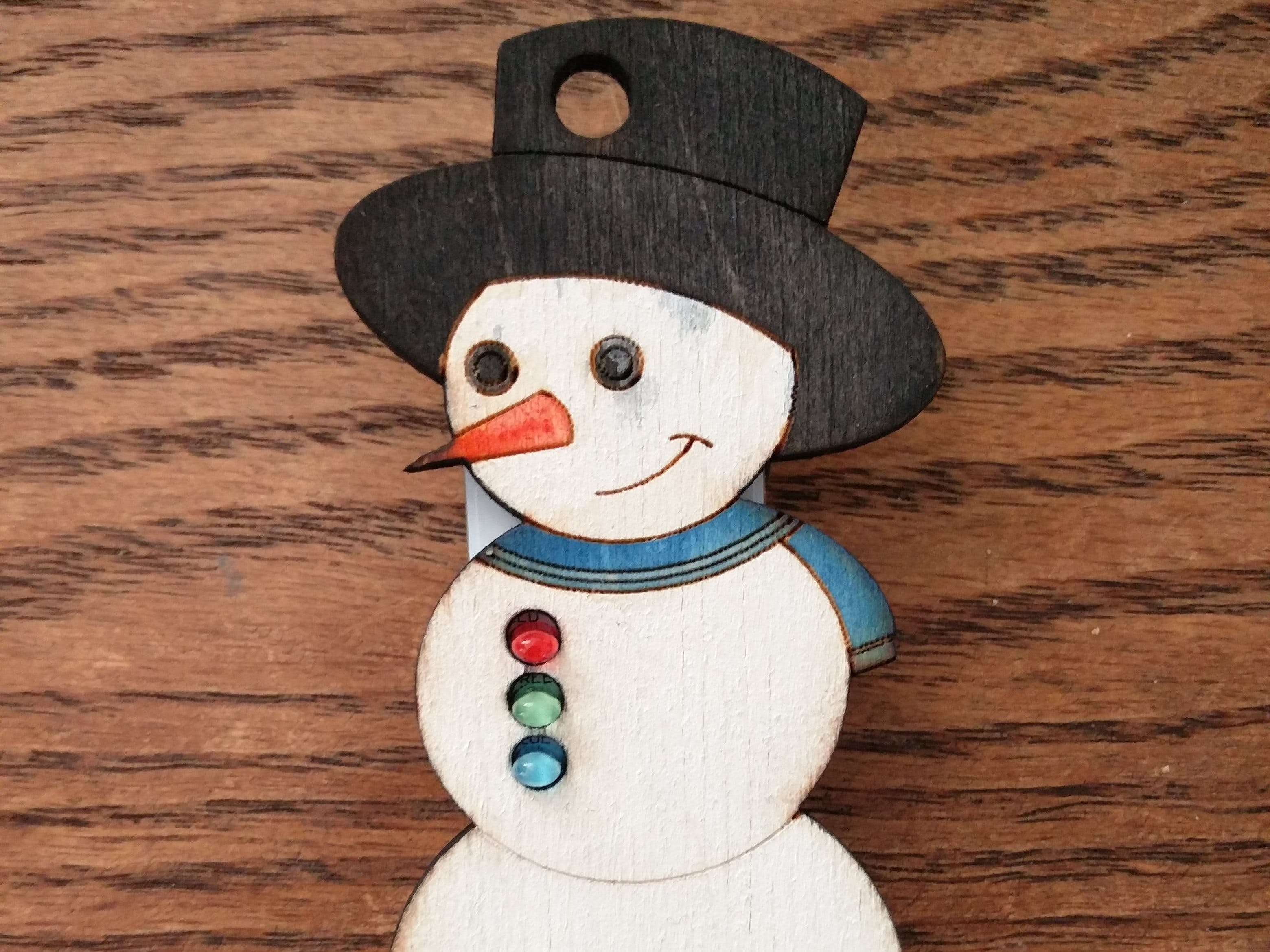 Blinking and Singing Snowman Ornament