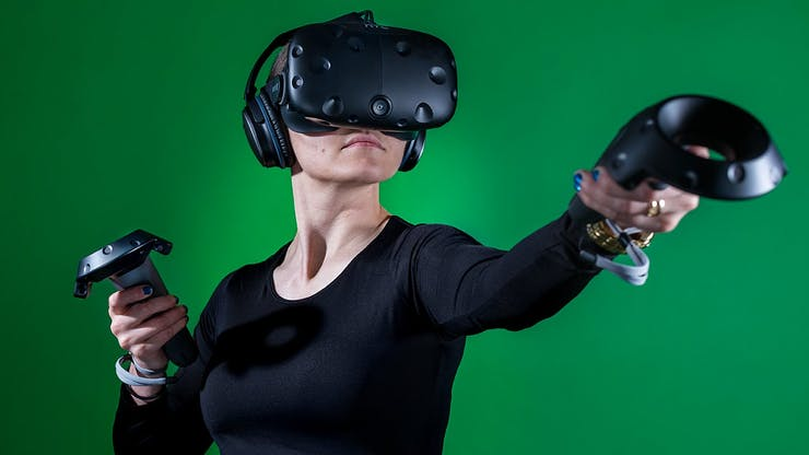 If you haven't tried an HTC Vive, visit a Microsoft Store near you.