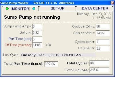 Sump Pump Monitor