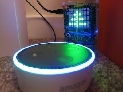 Voice Controlled LED Matrix Christmas Tree