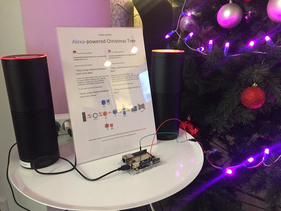 Alexa-Powered Christmas Tree