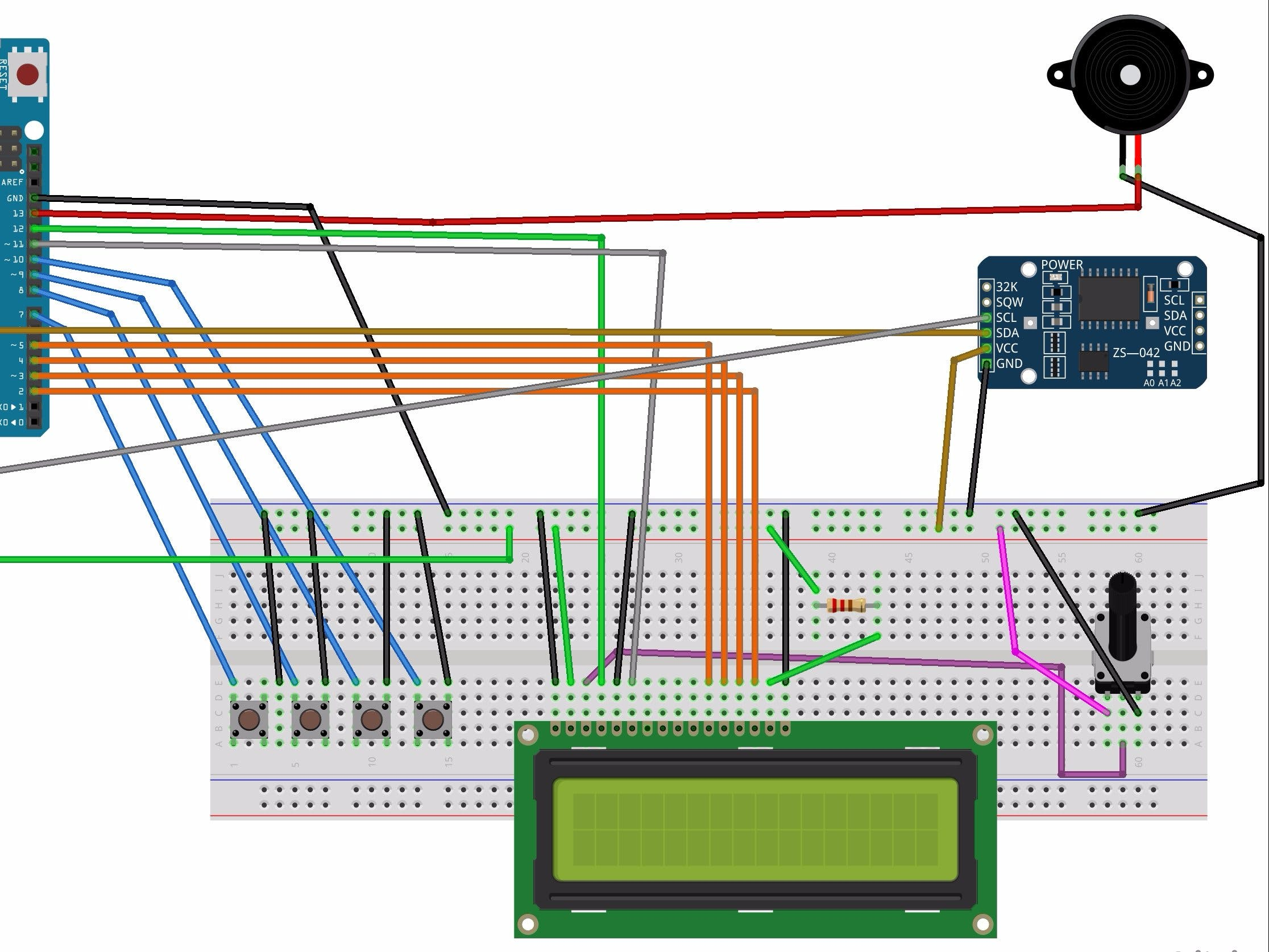Multifunctional Watch With Arduino Uno