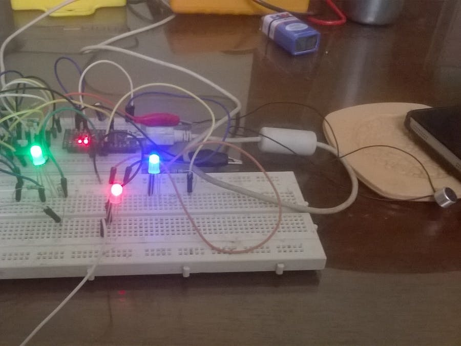 A Simple Arduino Based LEDs Dance To Audio Input - Hackster io