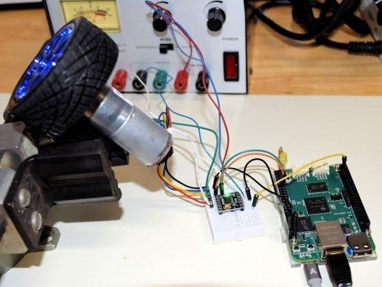 PRU PID Motor Speed Controller with Beaglebone Green