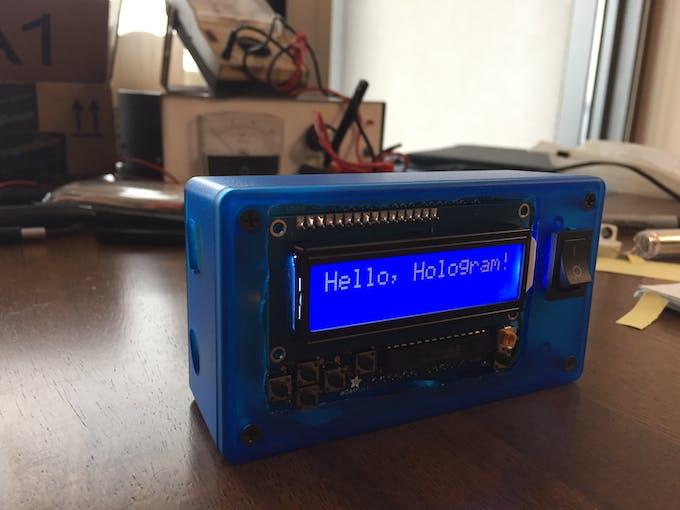 It's alive! Hello, Hologram!