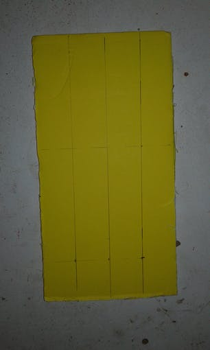 piece form foum sheet to cut