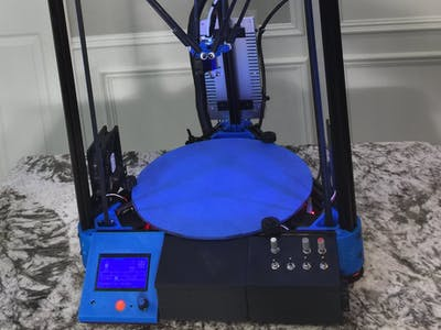 DIY Kossel XL RepRap 3D Printer Build