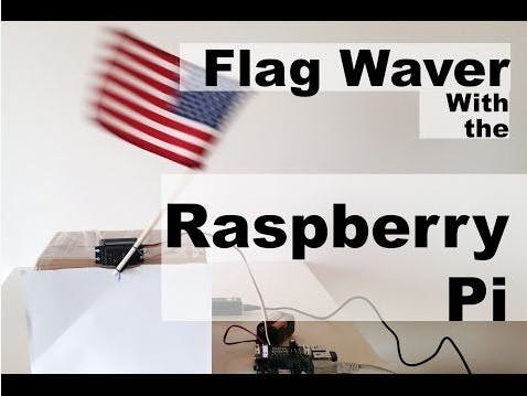 Raspberry Pi Servo Flag Waver