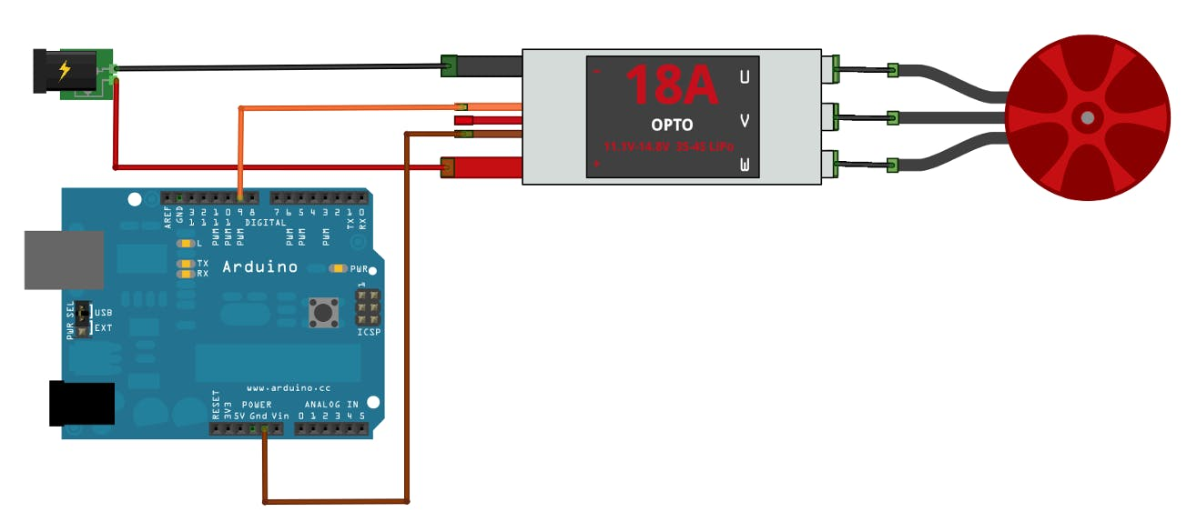 Electronic Speed Control Wiring