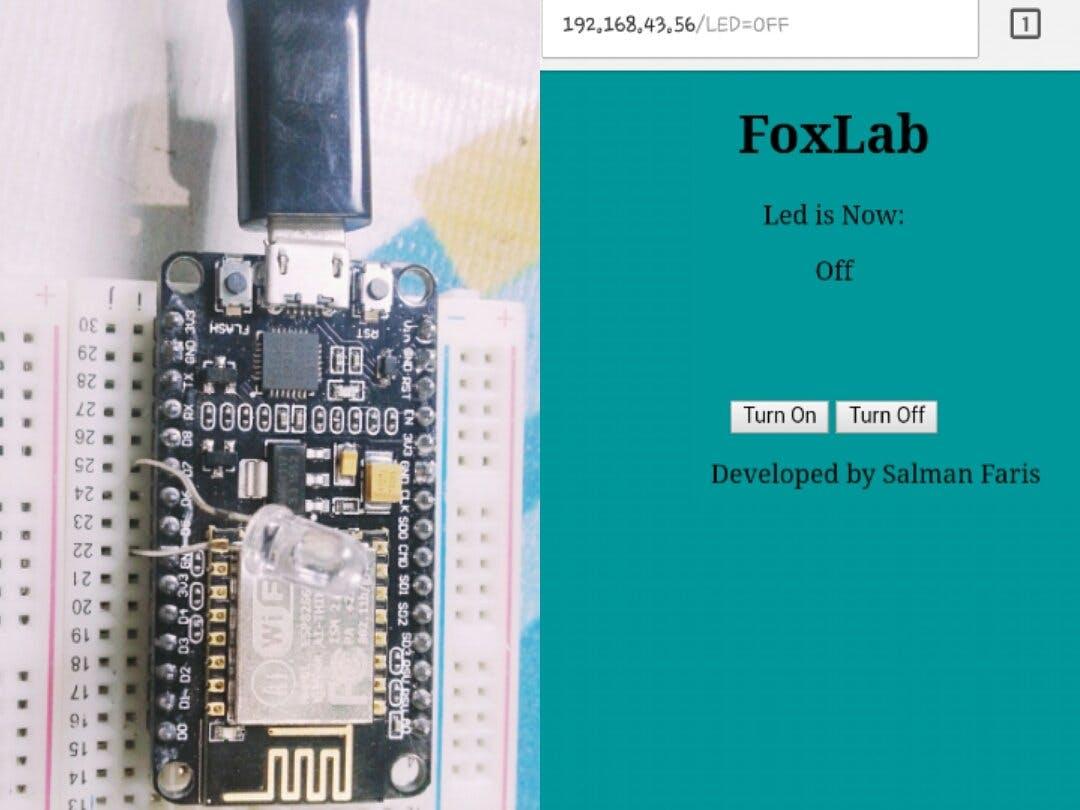 WebServerBlink Using NodeMCU