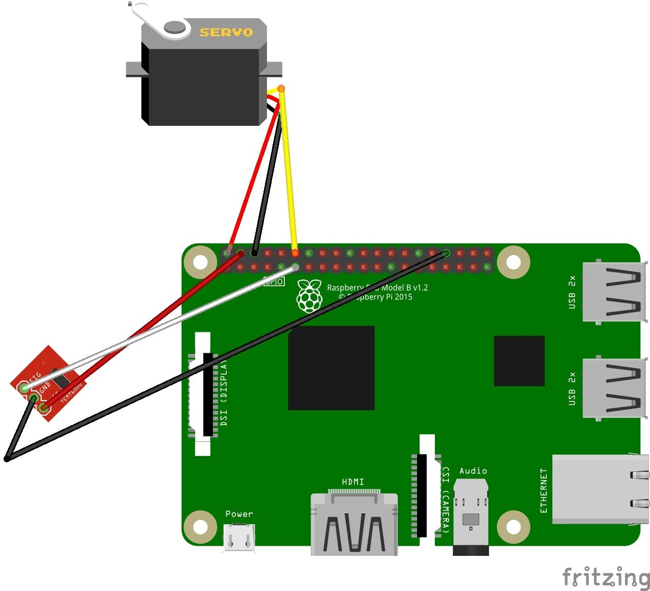 Schematic for Raspberry Pi connections