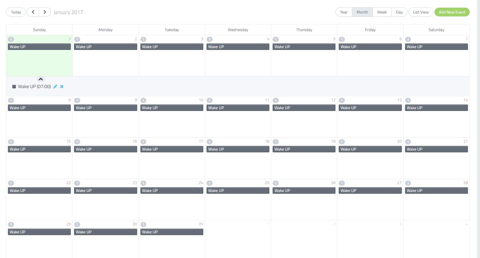 Cayenne Scheduler