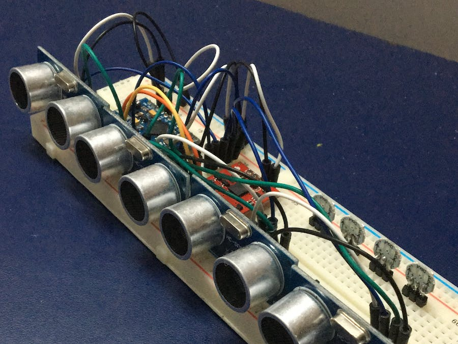 Mapping a room wh ultrasonic distance sensors hackster
