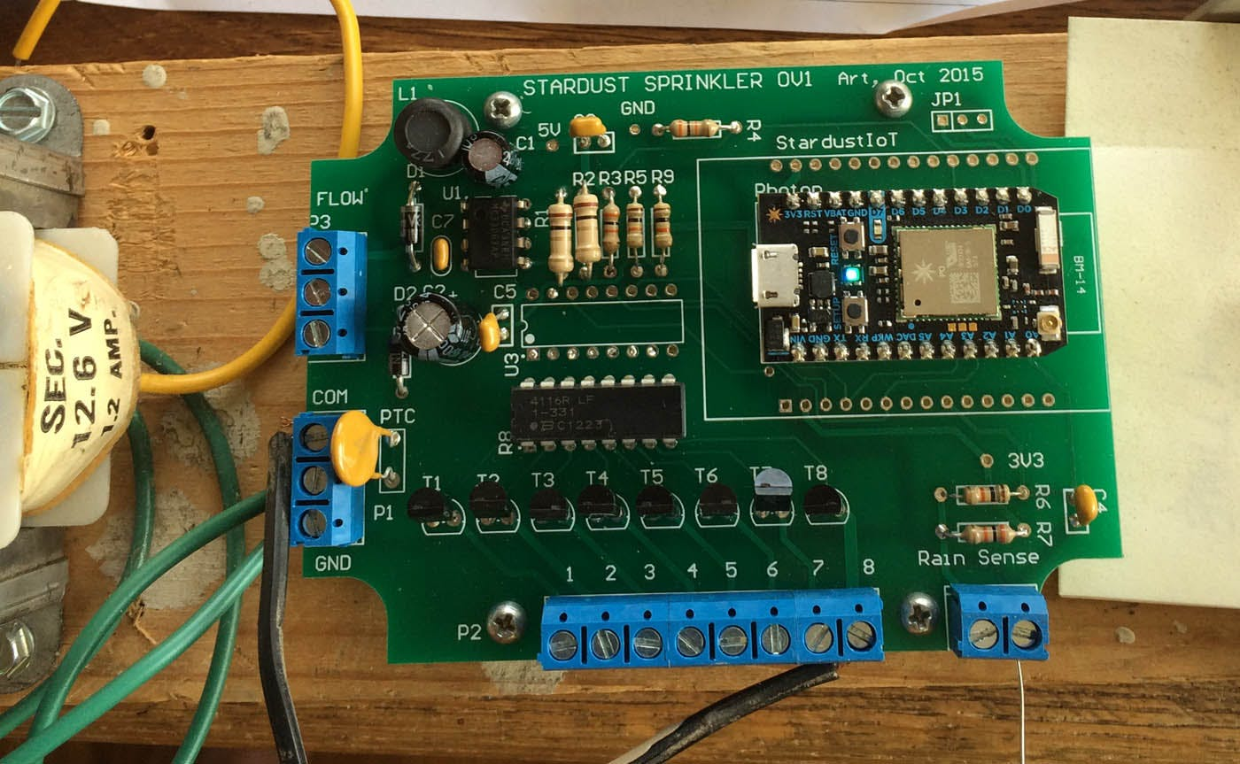 Loaded board powered by Radio Shack 12AC Transformer