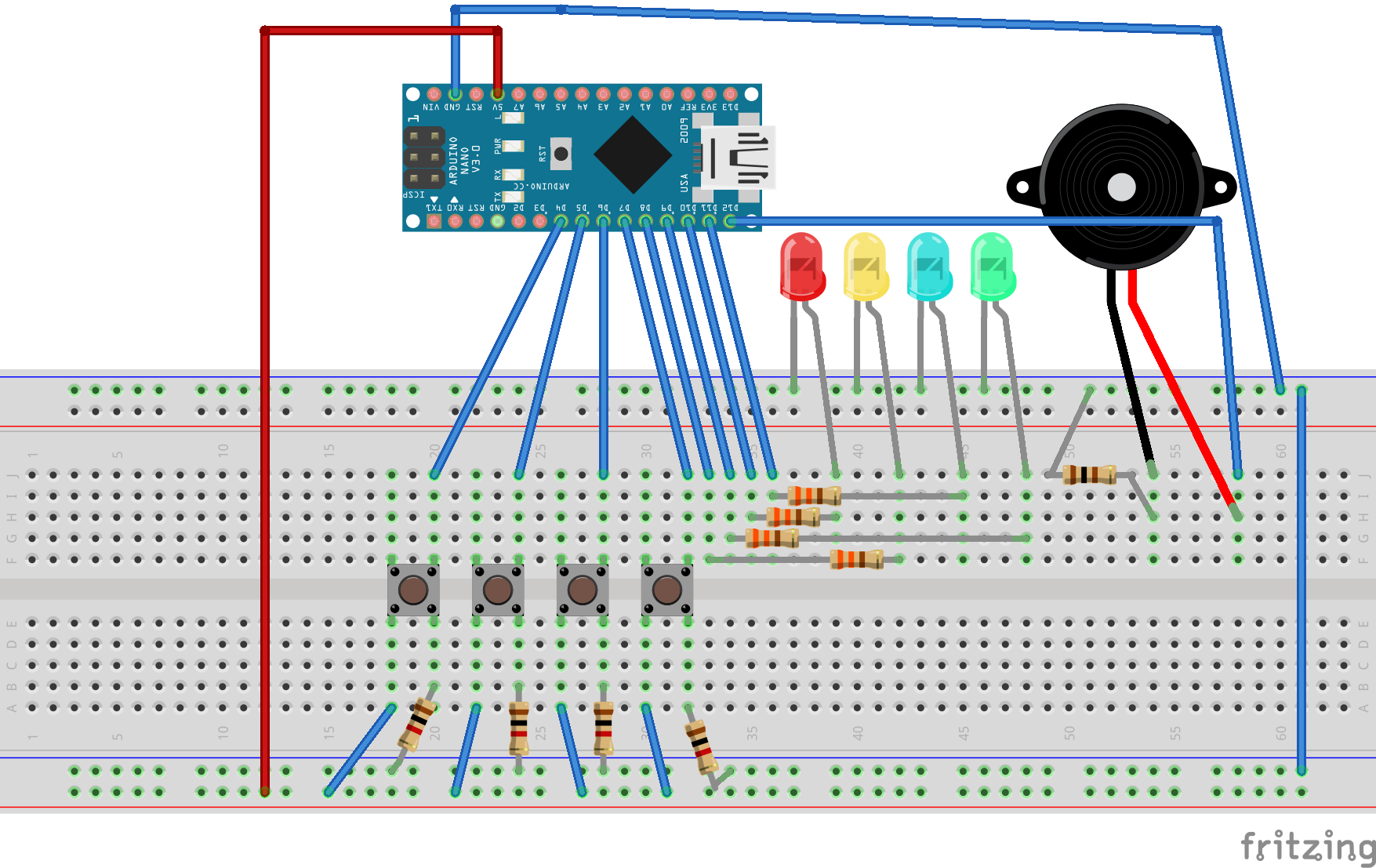 Arduino simple simon says hackster