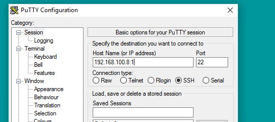 enter pi ip address
