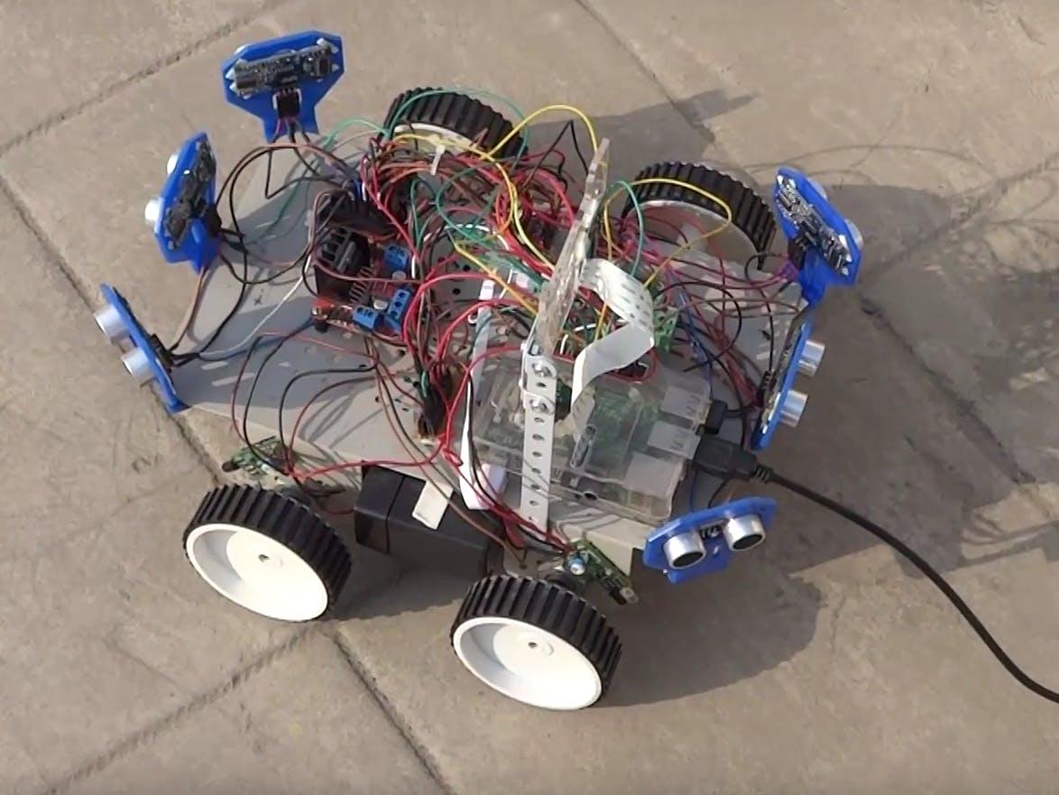 Six Ultrasonic Sensors !!!   Raspberry Pi Robot