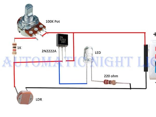 metal halide wiring schematic automatic night lamp with ldr hackster io  automatic night lamp with ldr hackster io