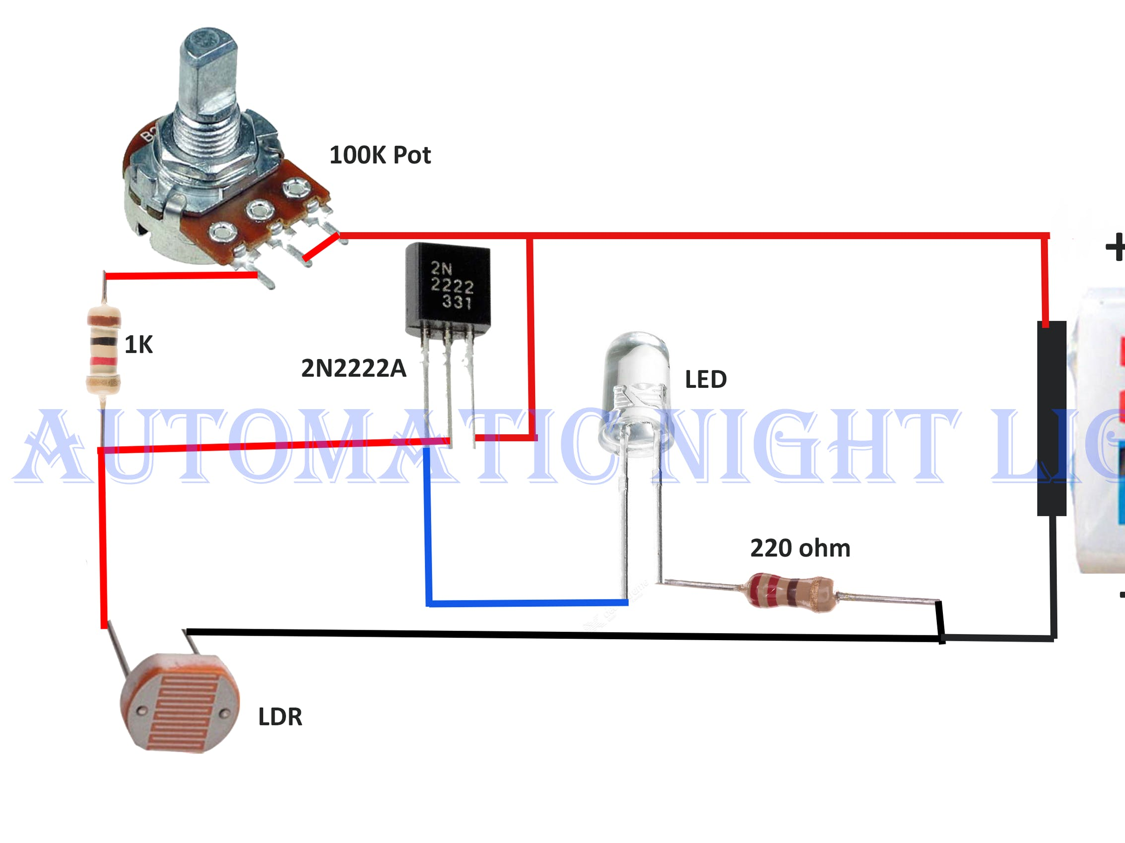 automatic night lamp with ldr hackster io Rotary Switch Schematic for Wiring Rotary Switch Wiring Diagram Forward and Reverse