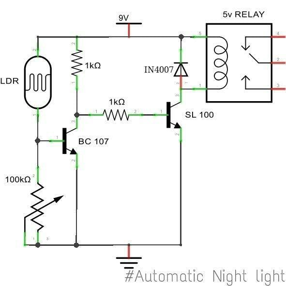 modified automatic night light