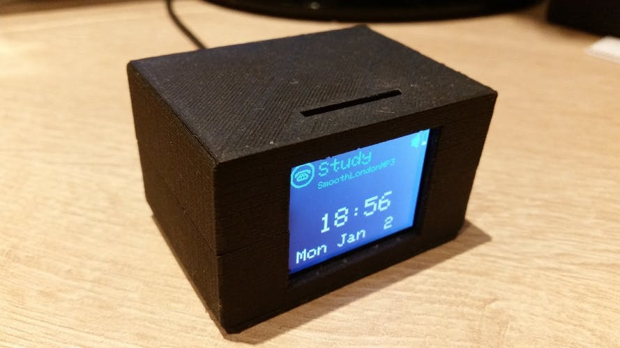 Enclosure for Photon with 1.8 Inch  TFT LCD Display  3D Printing