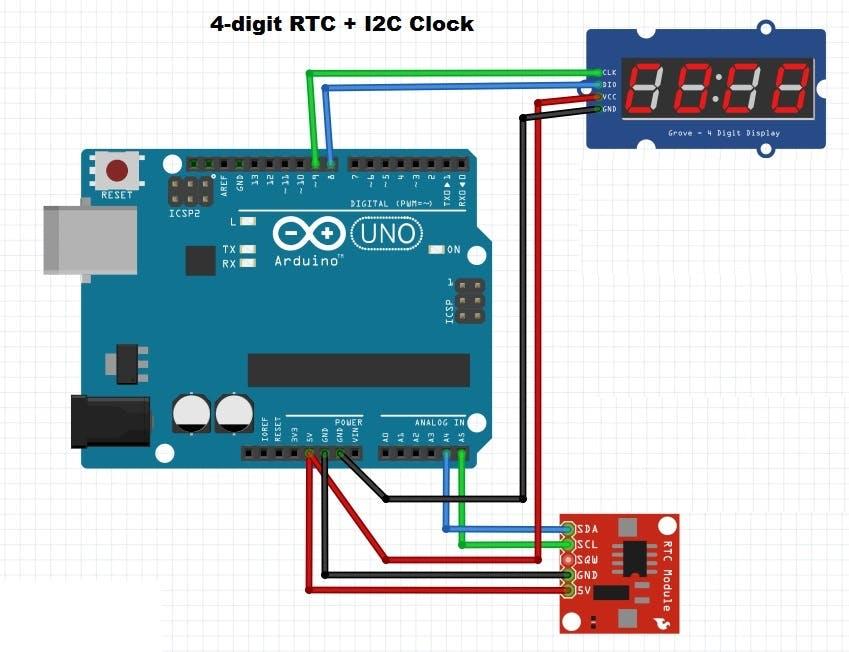 4-digit RTC Clock