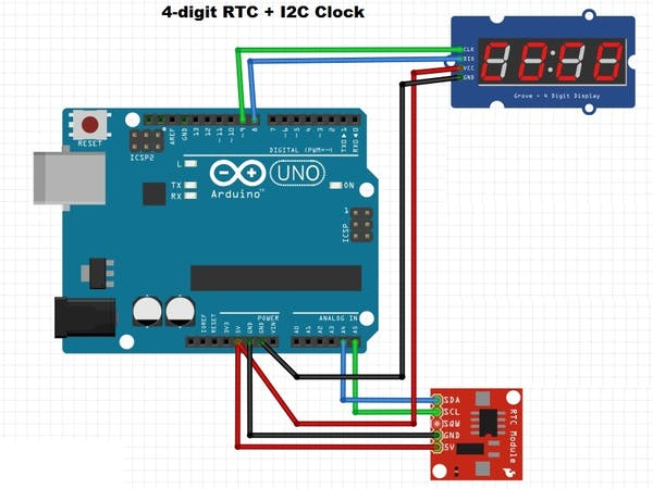 Digit rtc clock arduino project hub