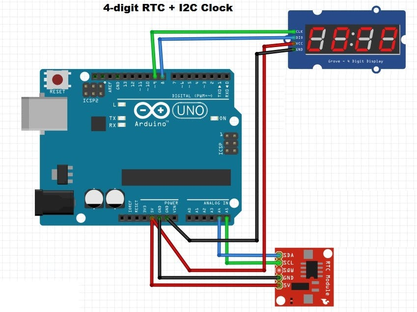 4-digit RTC Clock