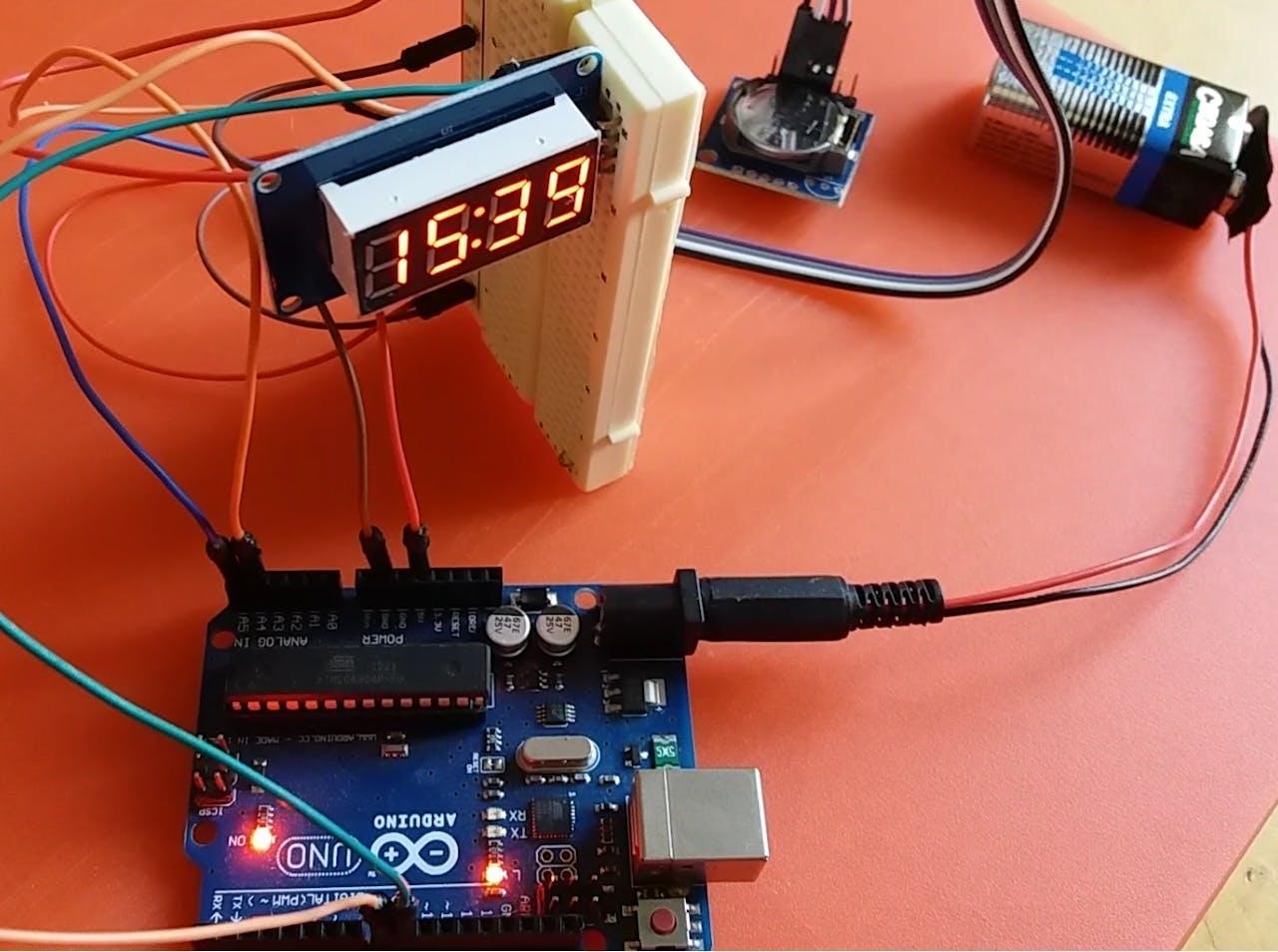 4 Digit Rtc Clock Arduino Project Hub Http Wwwschematicdiagramcom Electronicdigitalclockhtml
