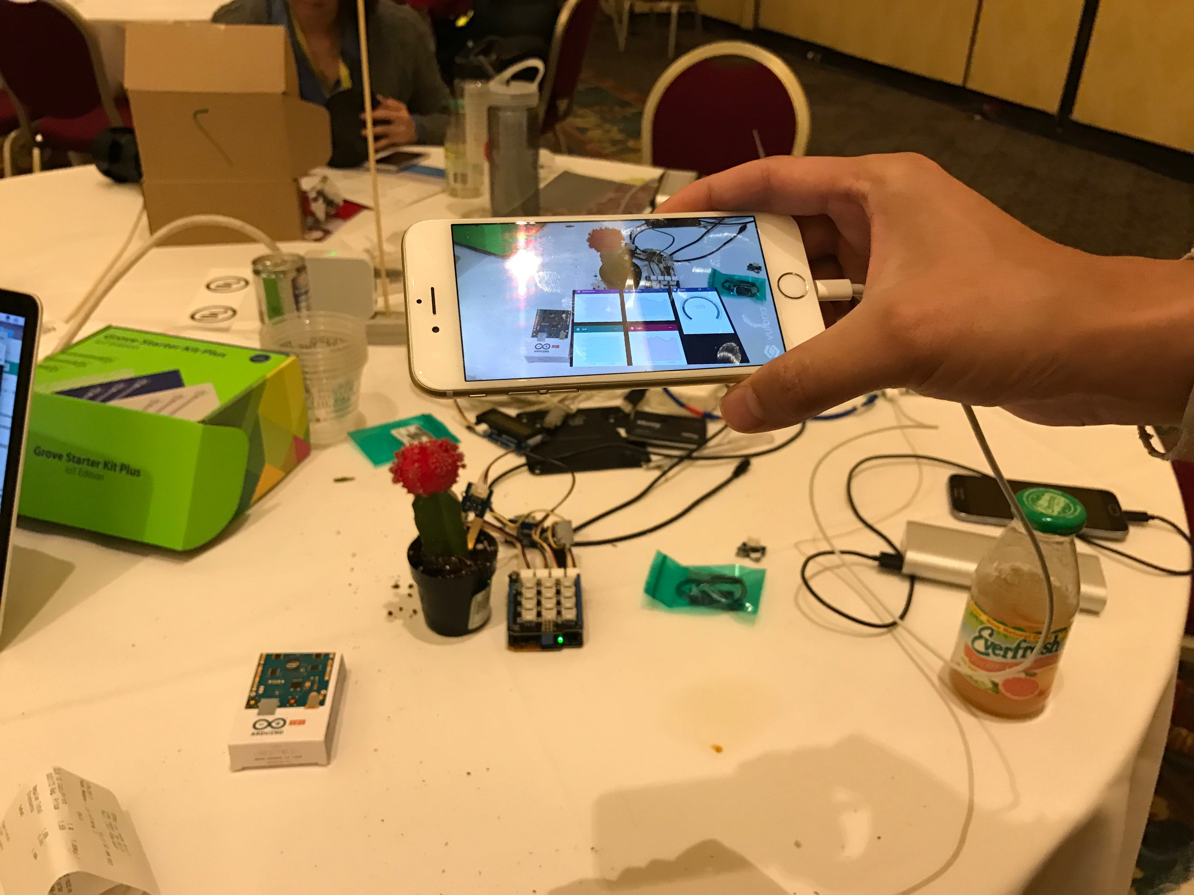 AR viewing the sensor data for the tree