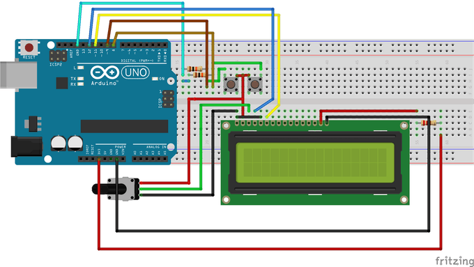 Simple arduino digital clock without rtc project hub