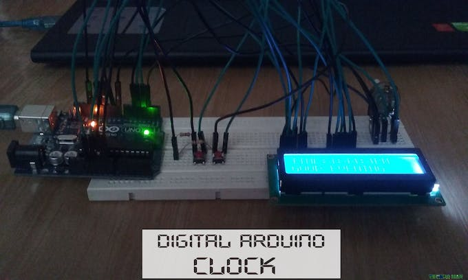 Simple arduino digital clock without rtc hackster
