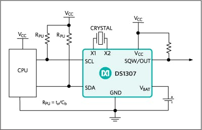 DS1307 64 x 8, Serial, I²C Real-Time Clock