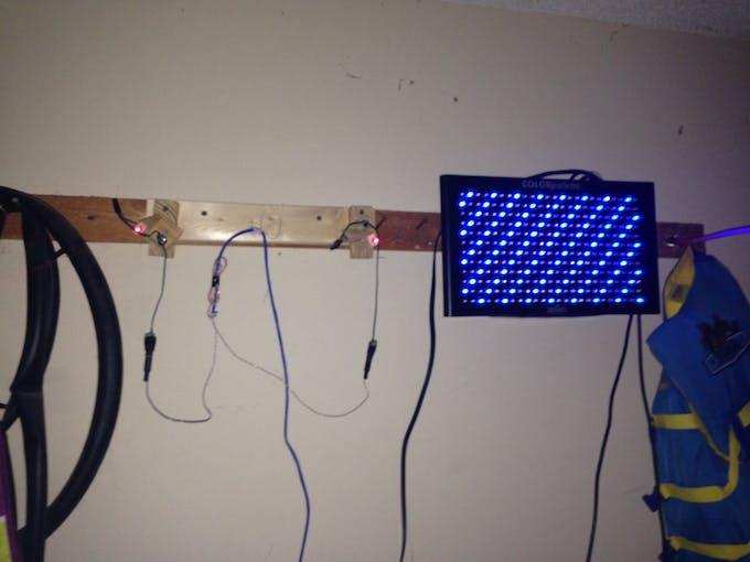 laser cluster for back wall