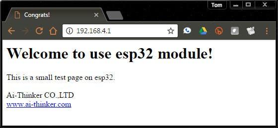 ESP32 Default Web Page