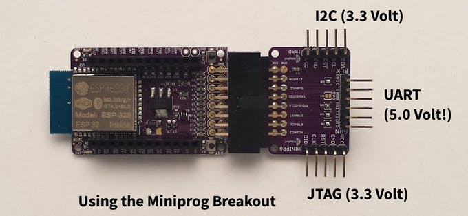 ESP32 with MiniProg Breakout